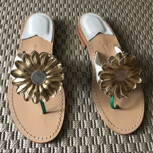 Jack Rogers flower sandals size 7 brand new